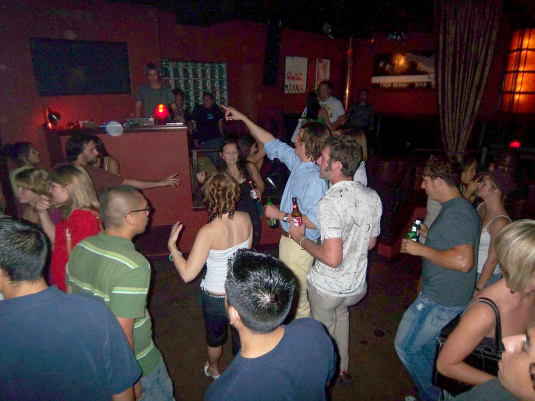 A rowdy night at the Firehouse Lounge and Hostel