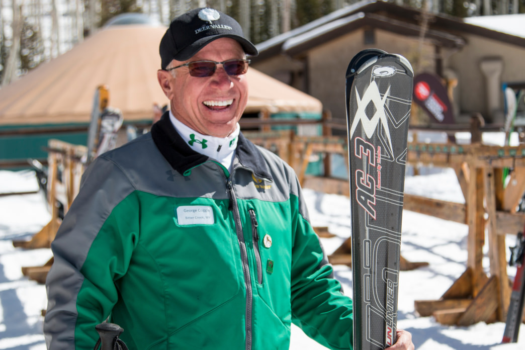 A ski valet will greet you curbside at Deer Valley to help with your equipment.