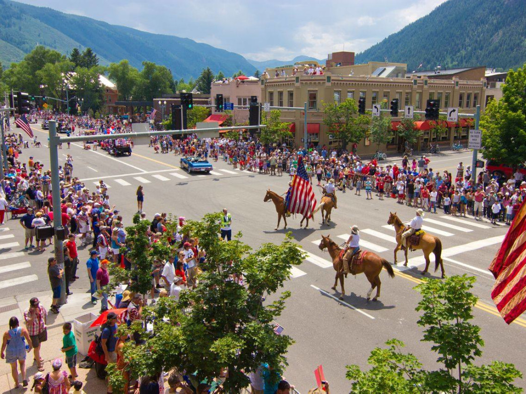 Aspen's Old Fashioned Fourth of July features a classic parade and evening of fireworks over Aspen Mountain.