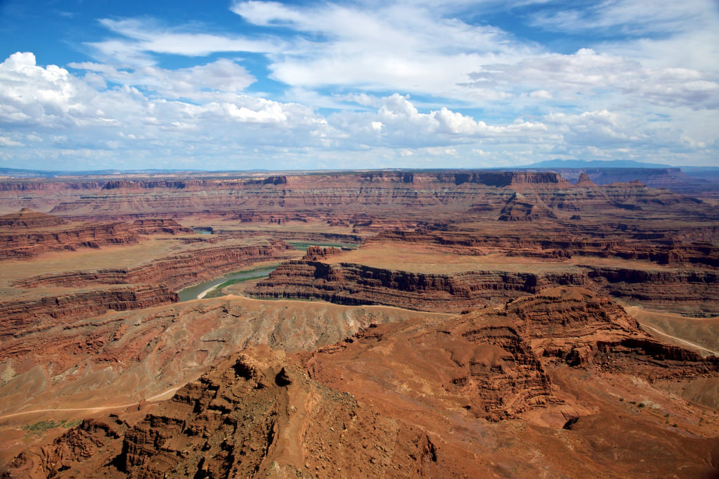 Dead Horse Point State Park offers an excellent campground and three yurts, all in close proximity to this incredible view.