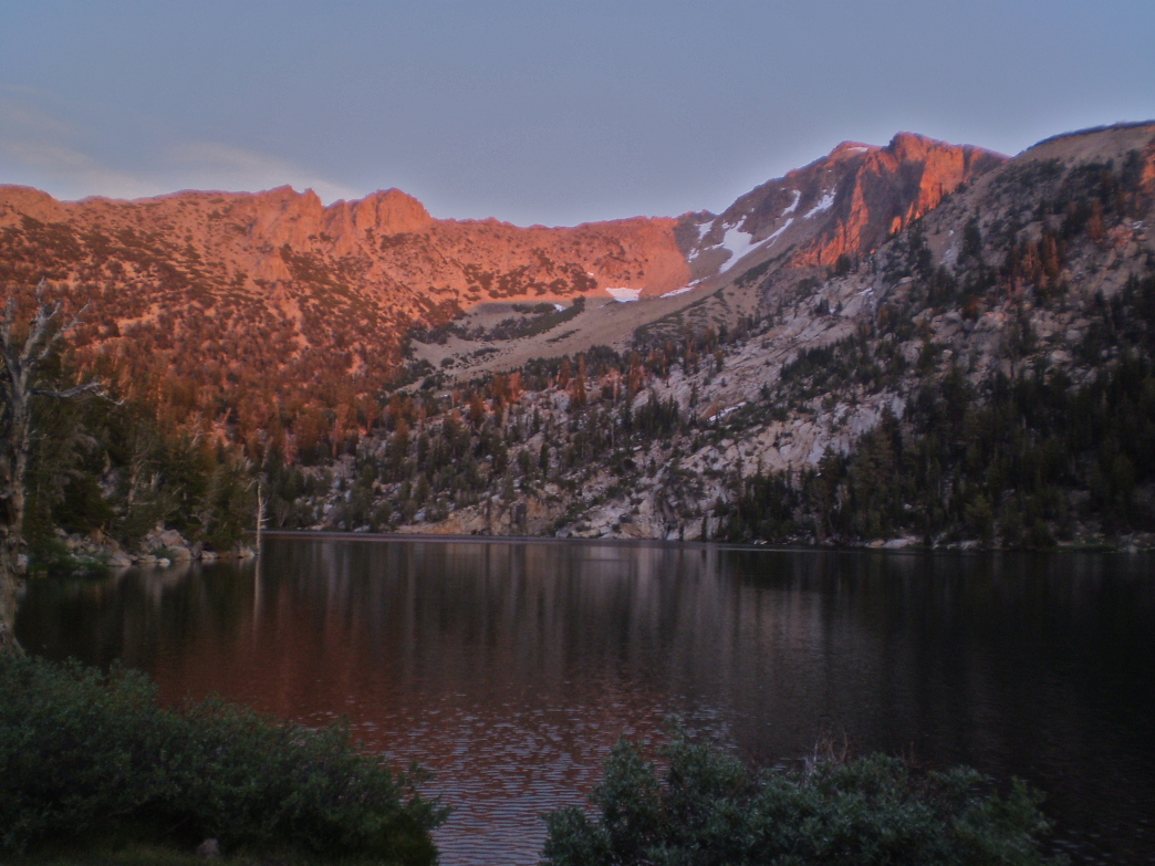 Alpenglow on the Tahoe Rim Trail is well worth a long day's hike.