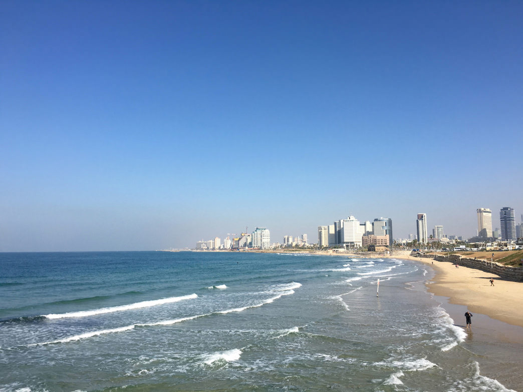 The Mediterranean Sea stretches for nearly 170 miles along Israel's west coast.