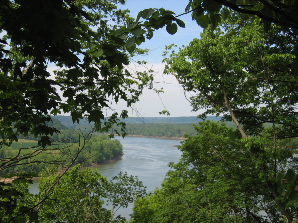 The Otter Creek Trail does some climbing, but the commanding view of the Ohio River is worth the effort.