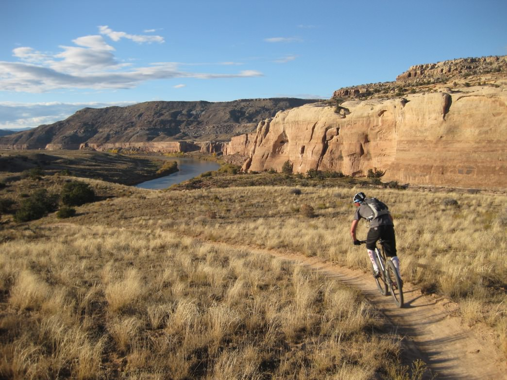 Ben Knight on a ribbon of single track near Fruita.