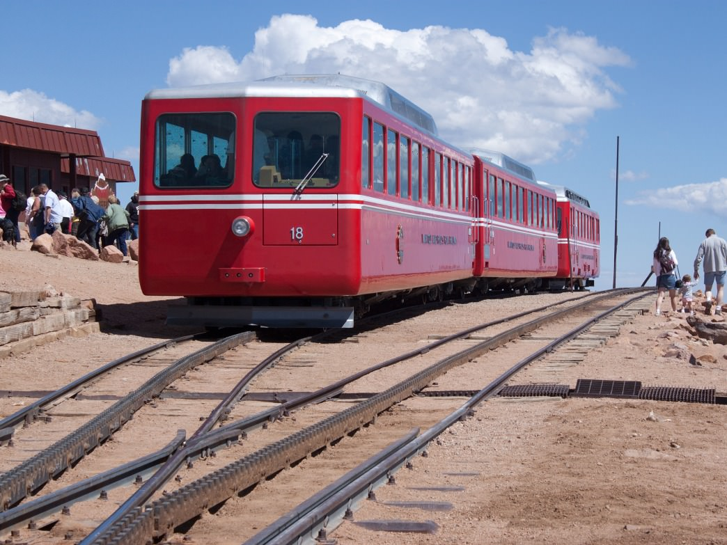 Spectating? Enjoy a leisurely ride up (and back down) the Cog Railway.