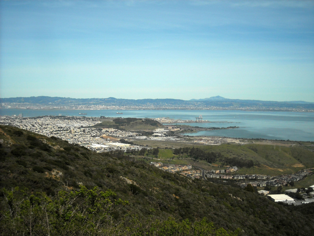 Catch views of the Bay from the San Bruno Ridge.