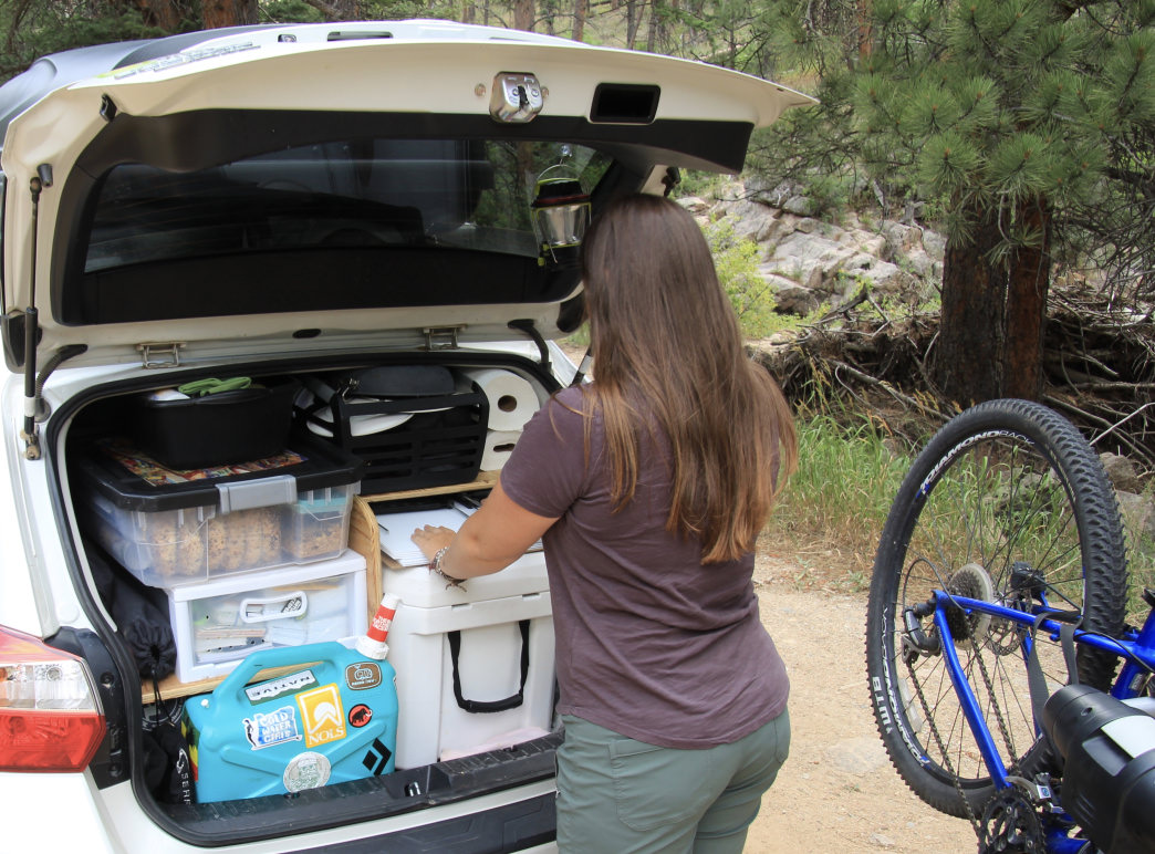 Your epic road trip will be even better with a sweet car buildout to keep your gear organized.     Aaron Hussmann