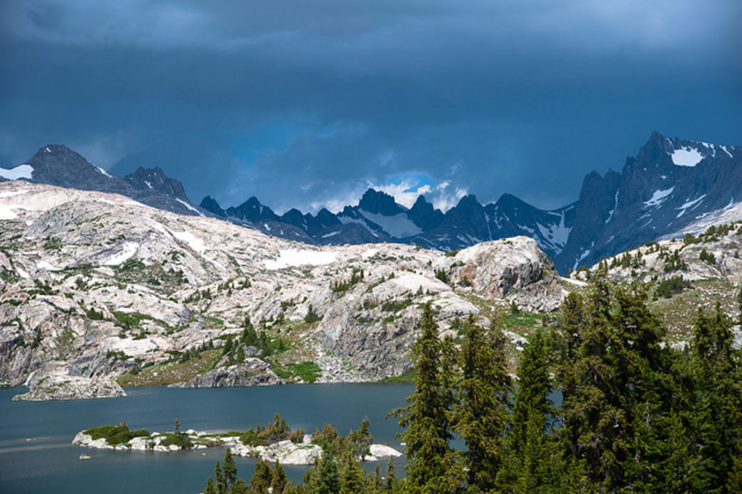 Storm clouds brewing over Titcomb Basin.