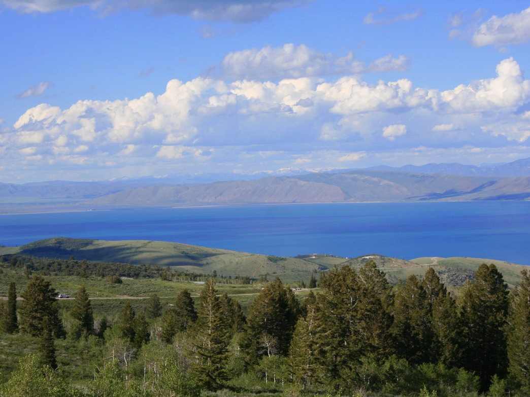 A beautiful view of Bear Lake, Garden City, Utah.