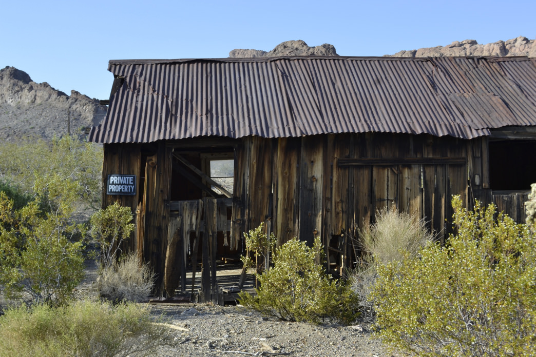 An abandoned shack begrudgingly dying in Nelson, Nevada.