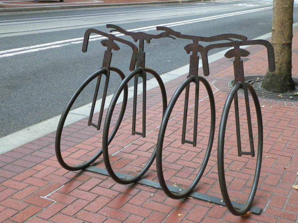 Portland has an established bike infrastructure (including these cool racks) but until now, no dedicated bike-share program.