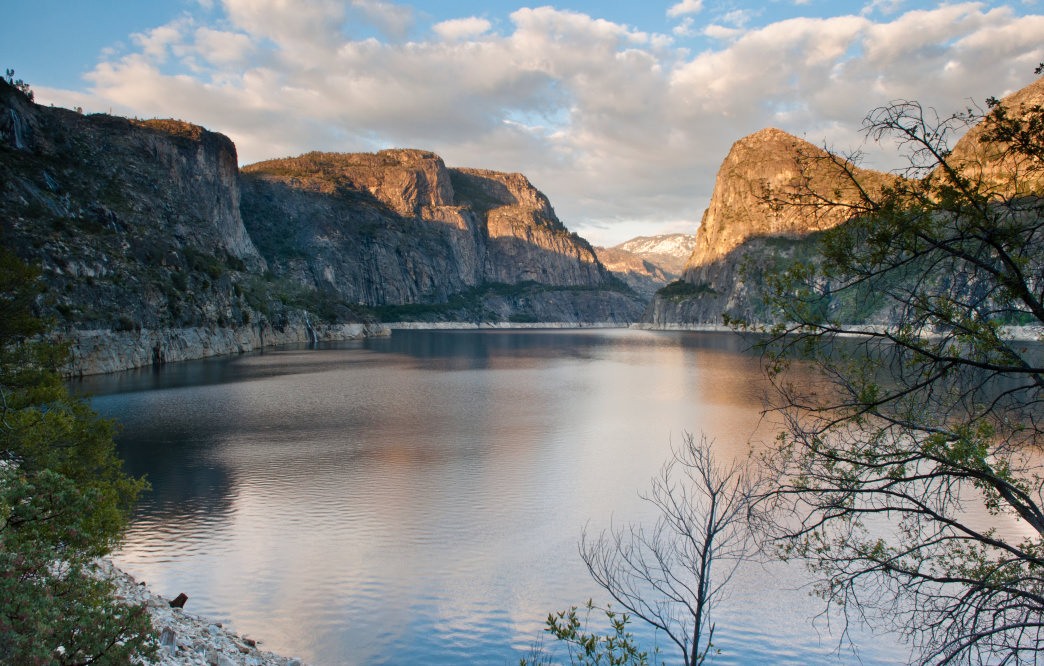 Take in a stunning sunset at Hetch Hetchy.
