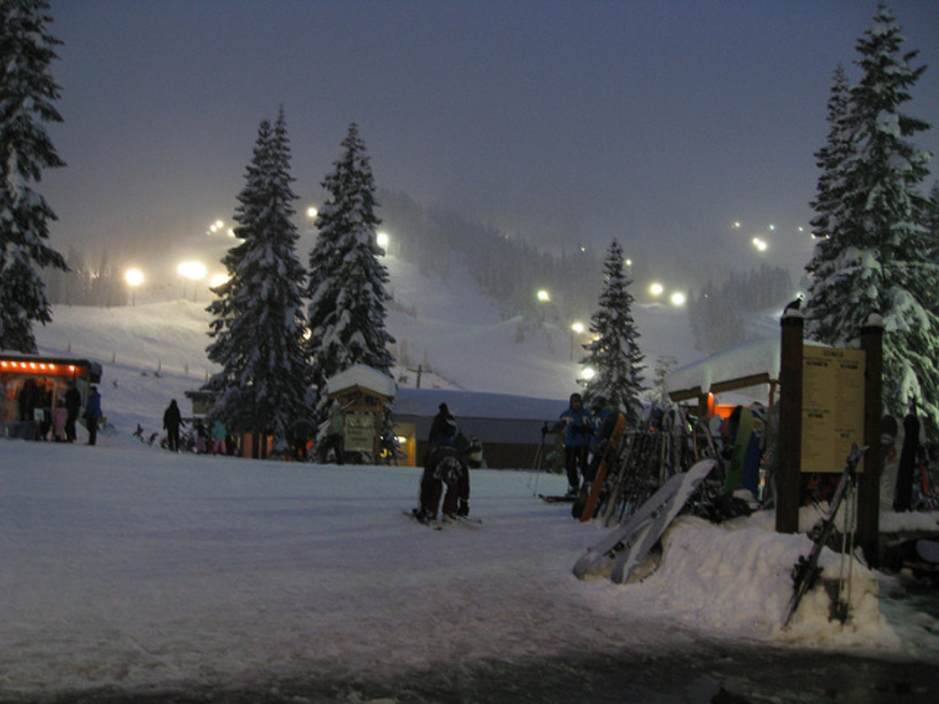 Stevens Pass has plenty of lighted runs at night.