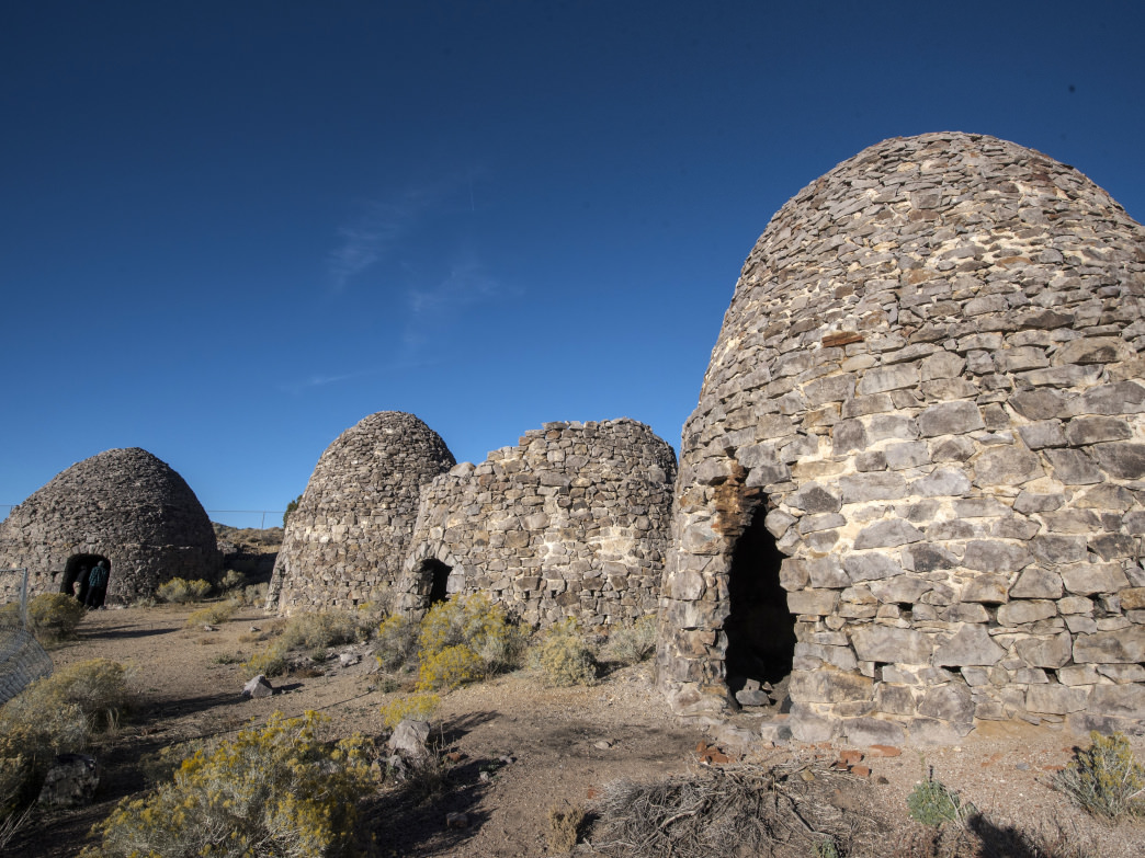 Visit Frisco Ghost Town featuring five beehive-shaped charcoal kilns.