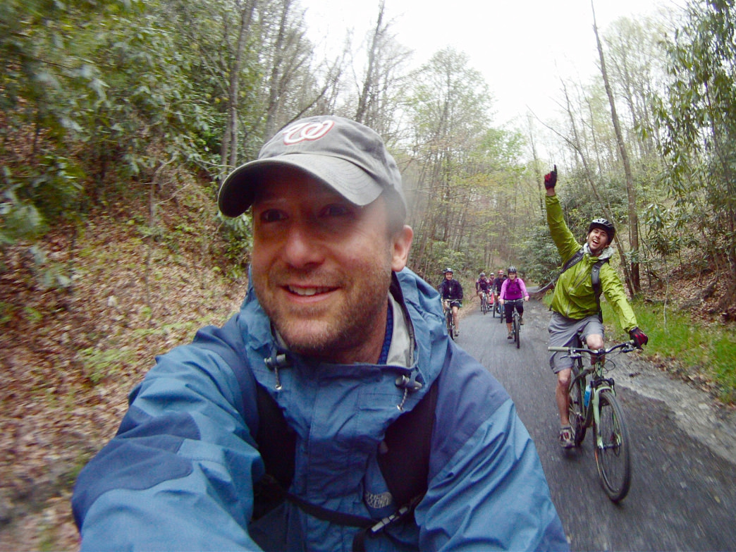 Enjoy a long day of pedaling along the 34 miles of Virginia Creeper Trail. Jay Young