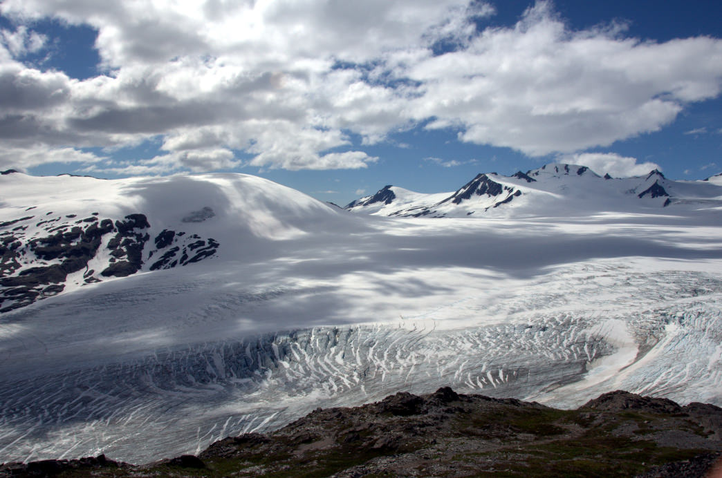 Get a view of Alaska's Exit Glacier from the Harding Icefield Trail.