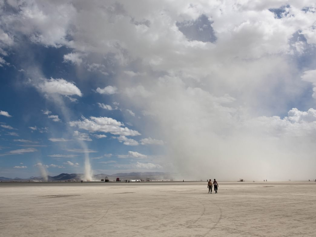 Be prepared to encounter dust at Burning Man.