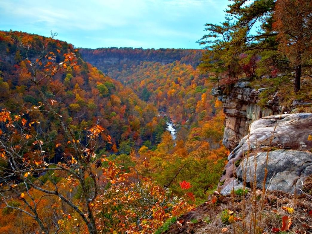 The LIttle River Canyon Nature Preserve is especially scenic with the changing fall leaves.