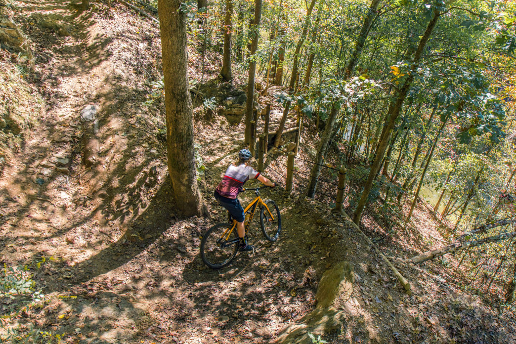 Blankets Creek is the top mountain biking destination around Atlanta.