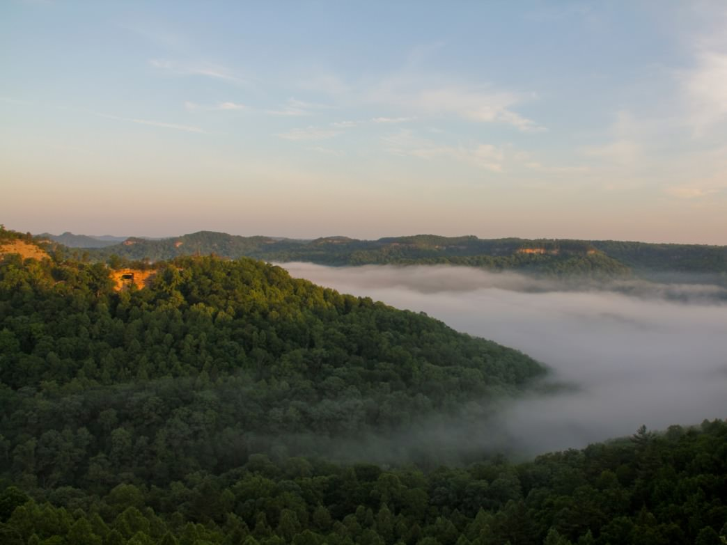 Sunrise from Auxier Ridge in Red River Gorge