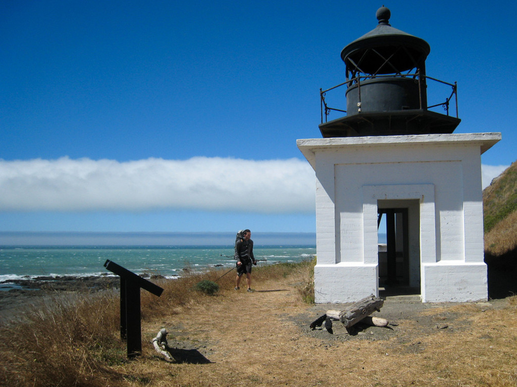 The remnants of the Punta Gorda Lighthouse is a popular spot among hikers on the Lost Coast.