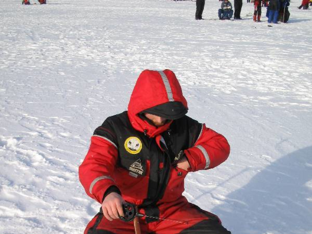 With the right gear, ice fishing is a popular pastime for many Teton fishermen.