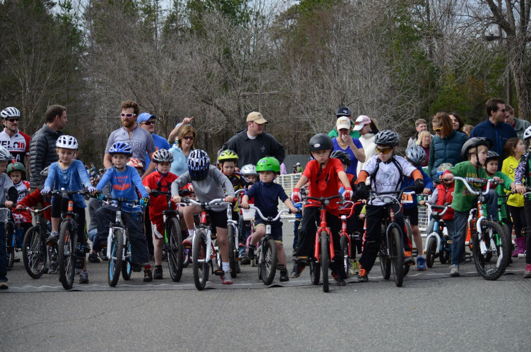 The free, midday toddlers race is a great introduction to the sport for the puniest pedaler.