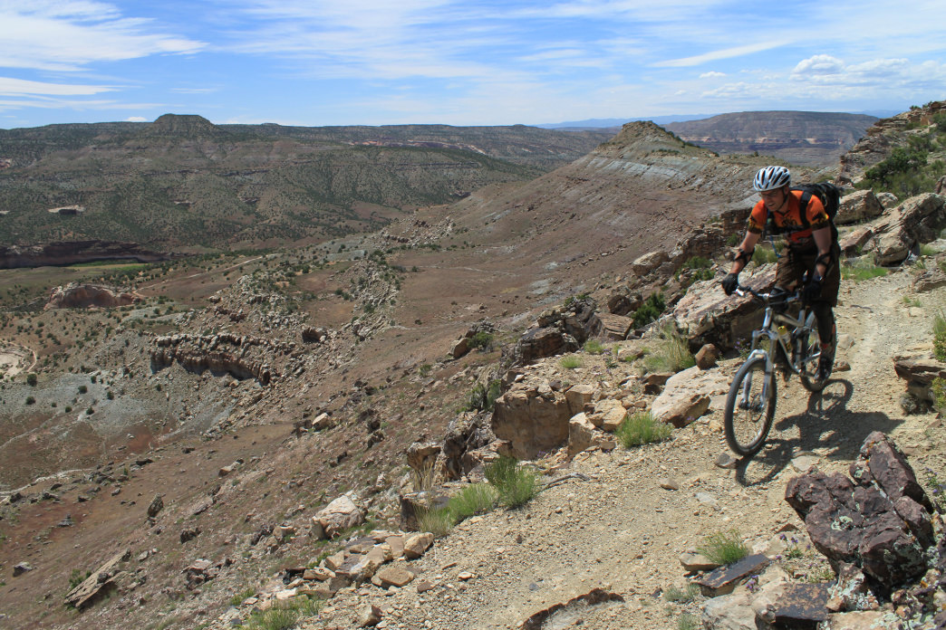 Enjoy miles and miles of singletrack in Grand Junction.<br />     Shaine Smith