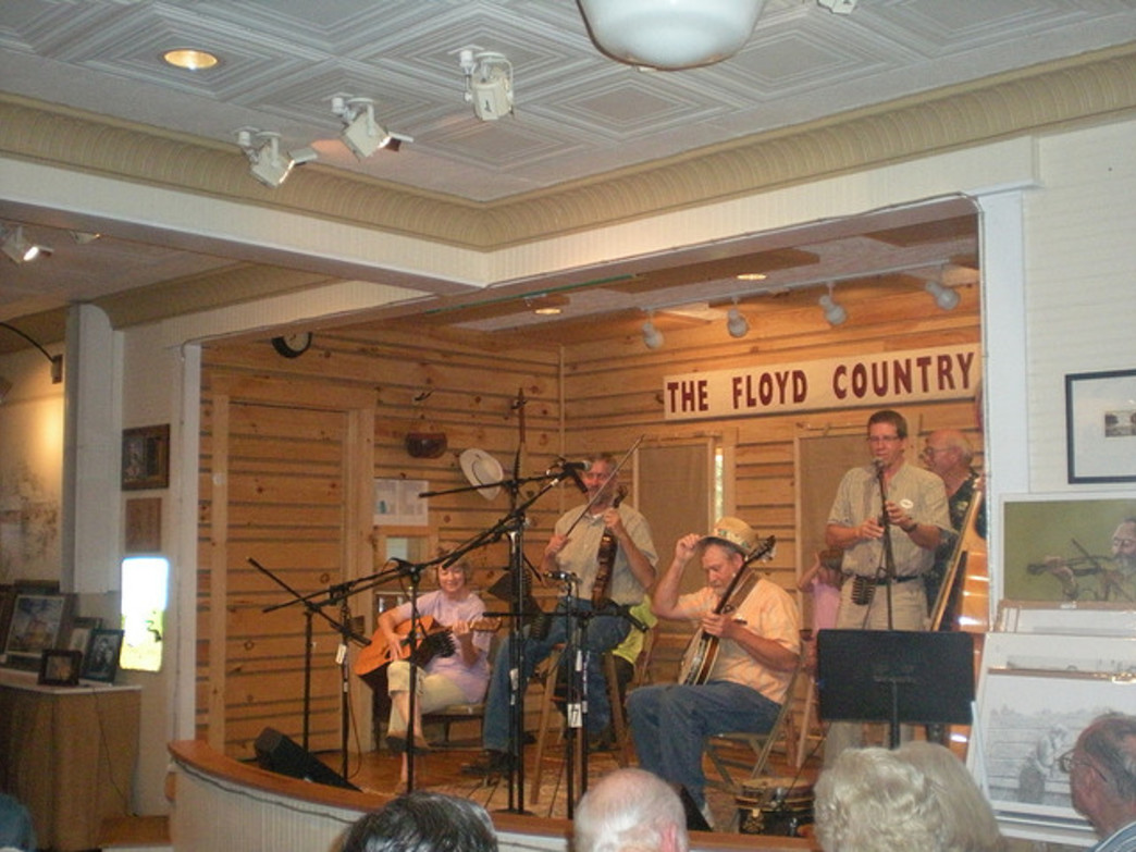 The Floyd Country Store is known as a center for bluegrass music.