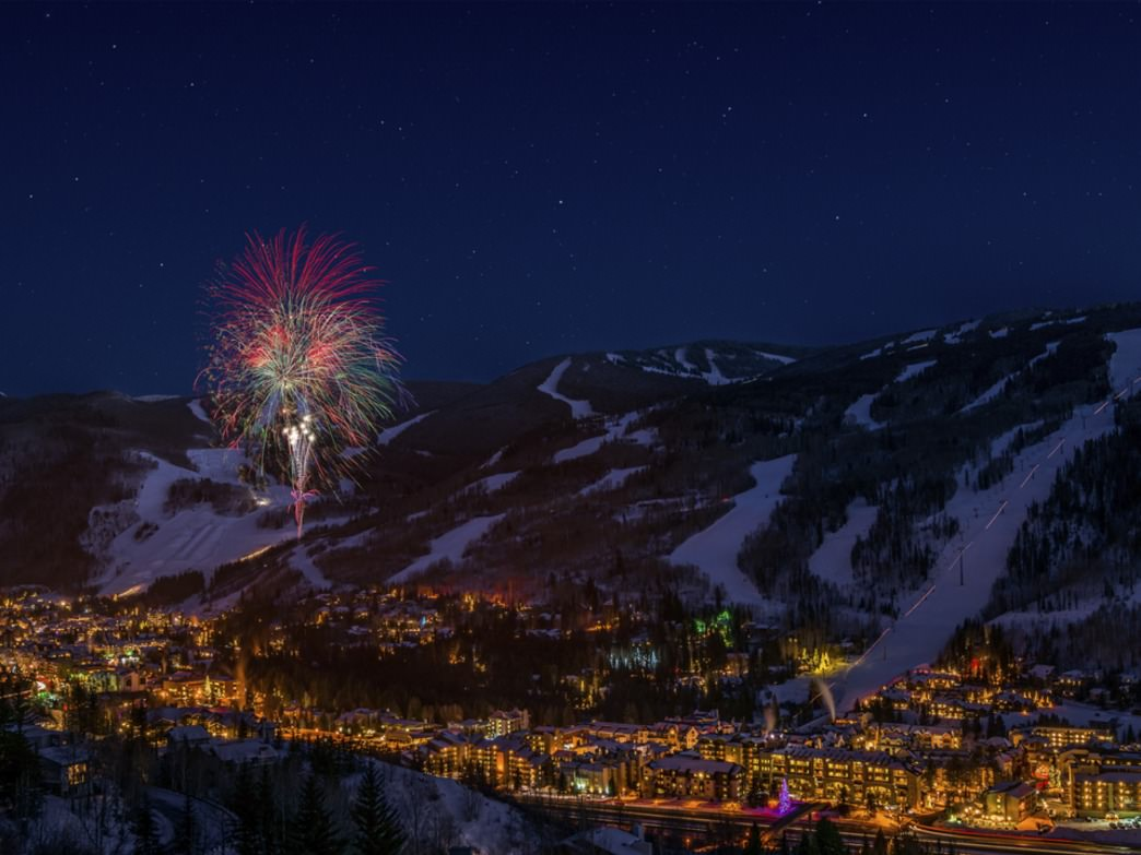 Kick off New Year's Eve right by watching fireworks light up the Vail sky.
