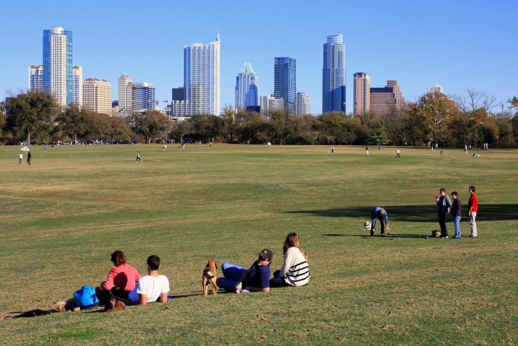 Covering more than 350 acres, Zilker Park is a great place to bike around.