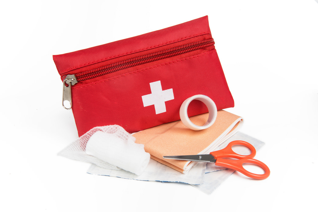 A portable first-aid kit can help with cuts and other accidents along the trail.