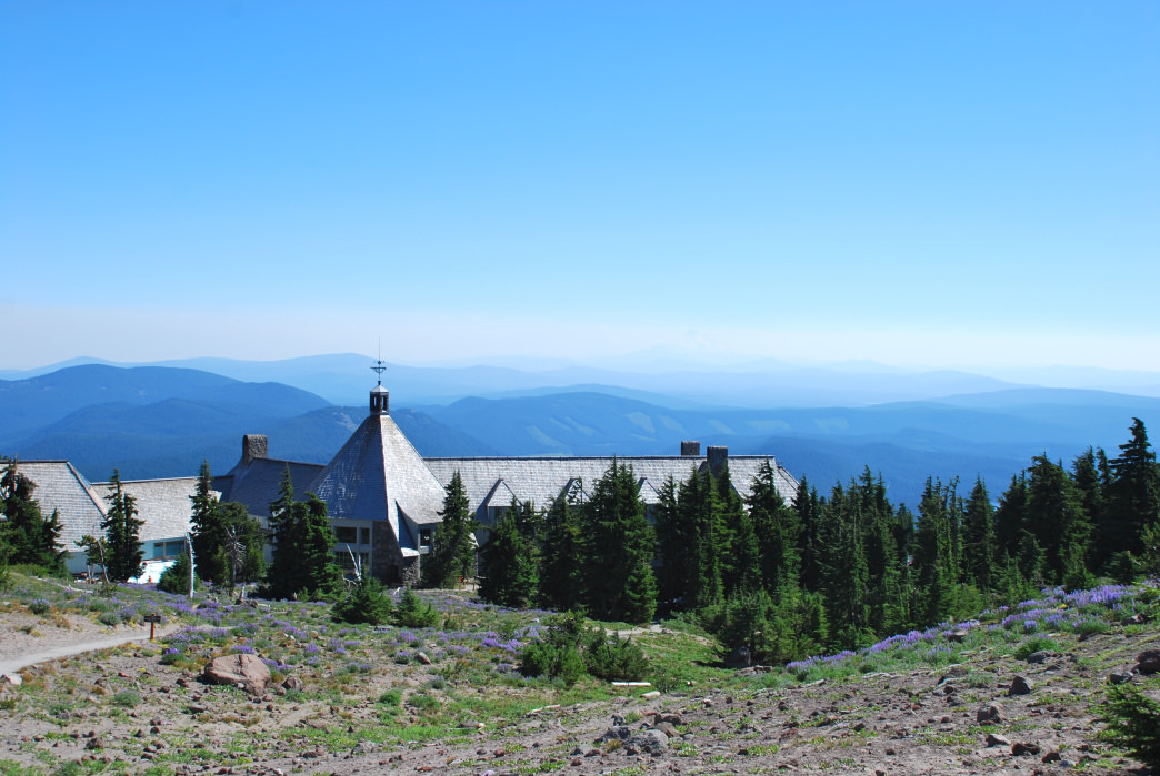 The historic Timberline Lodge is a great starting point for circumnavigating Mount Hood.