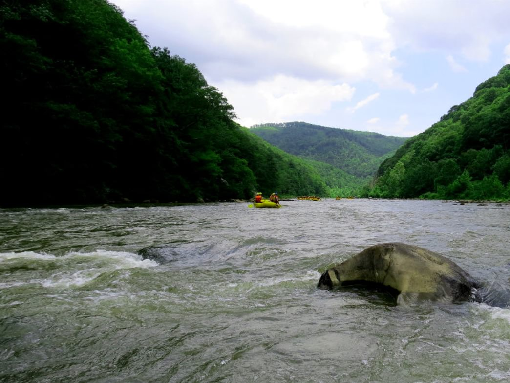 A paddle down the Nolichucky is a fine adventure.