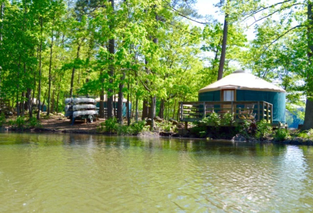 5 georgia state parks that offer yurt camping for Campsites with fishing
