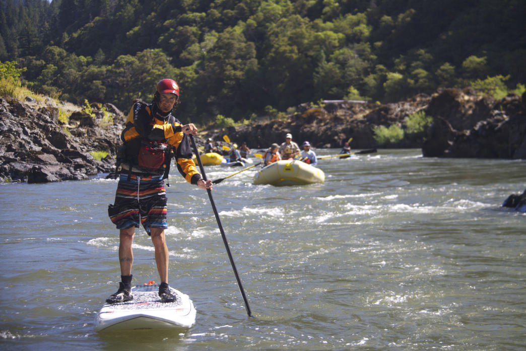 SUP-ing Oregon's Rogue River.