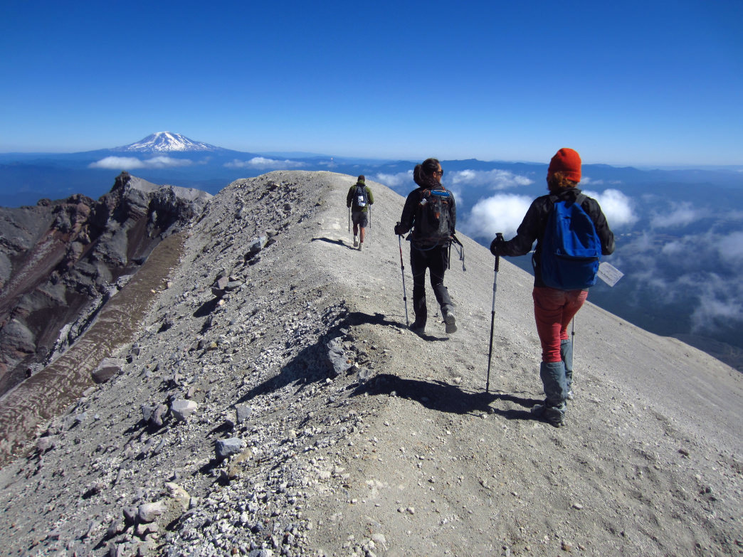 Mount St. Helens is still an active volcano, but many people summit it each year.