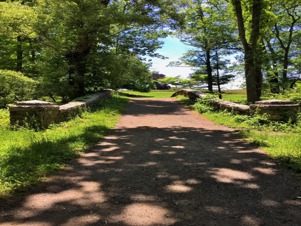 Rockefeller's State Park bucolic, winding carriage trails are perfect for an historic hike