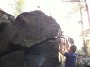 Bouldering at Interstate State Park