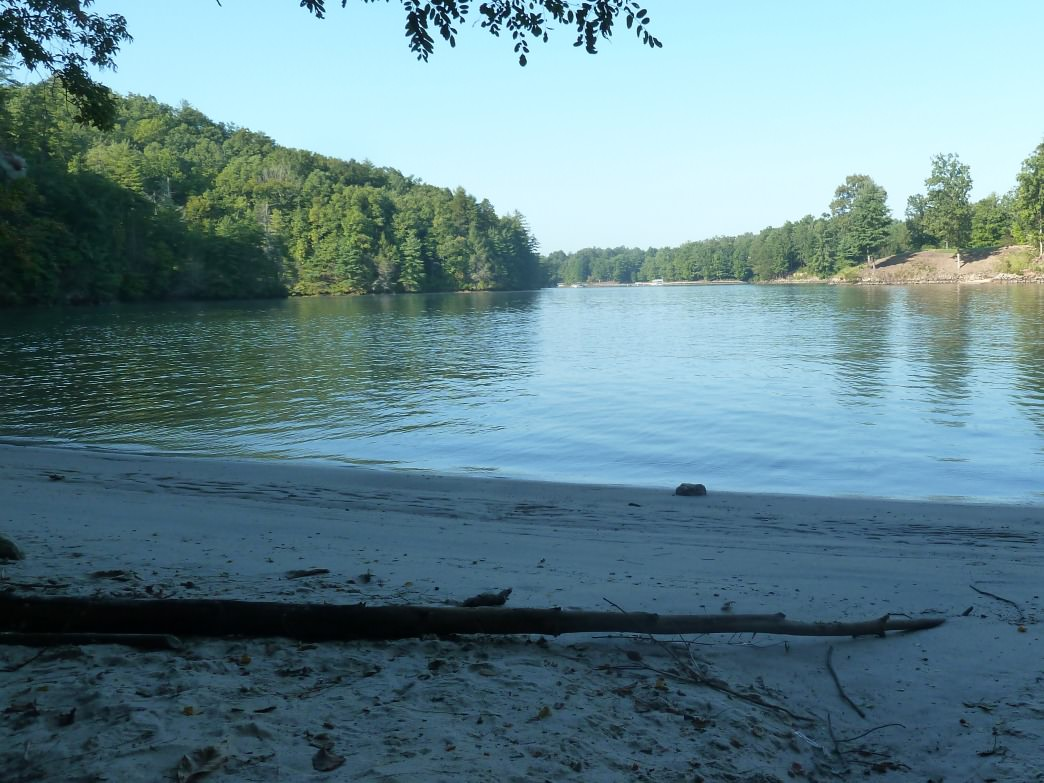 Tons of coves with private beaches line the shores of Lake Keowee.