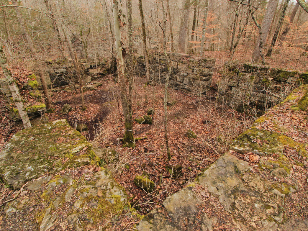Old Stone Fort papermill ruins.