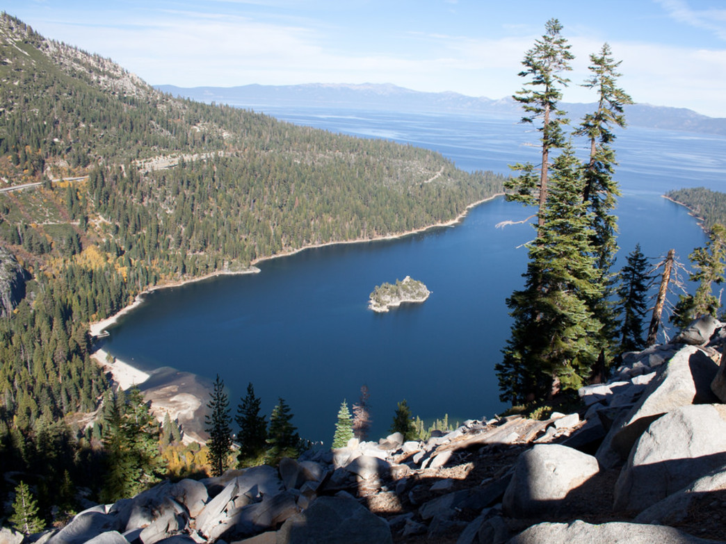 Views of Emerald Bay make this route especially breathtaking.