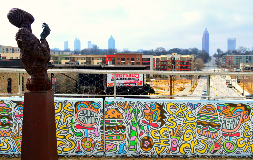 Enjoy the artwork along the Eastside Beltline Trail.