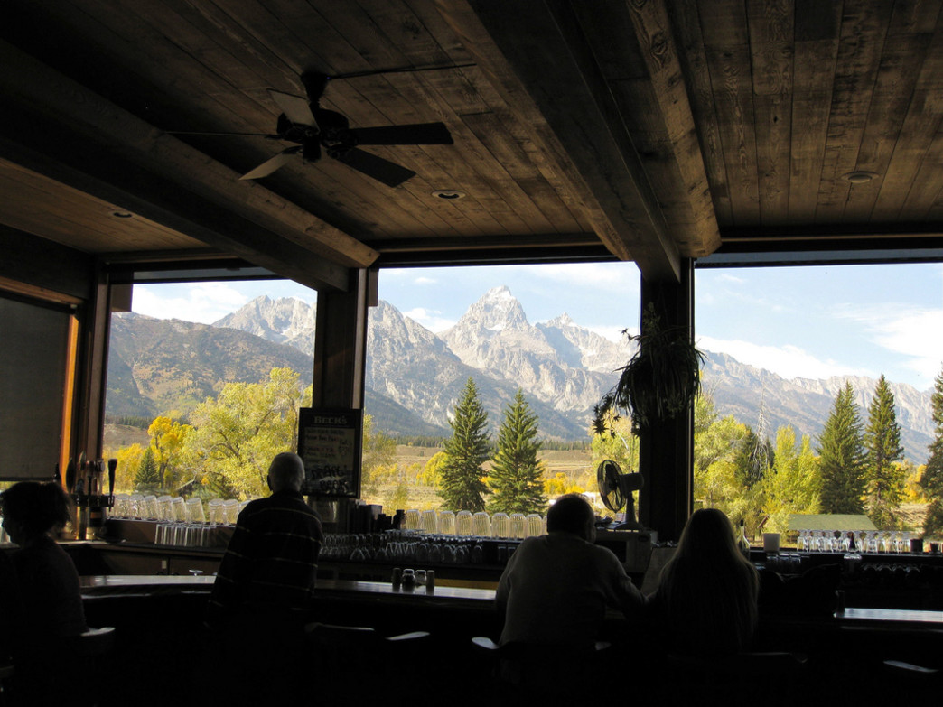 Soak up spectacular views of the Tetons at Dornan's.
