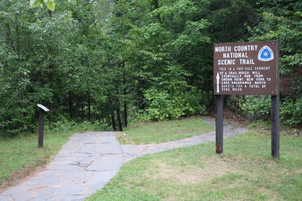 North County National Scenic Trail sign.