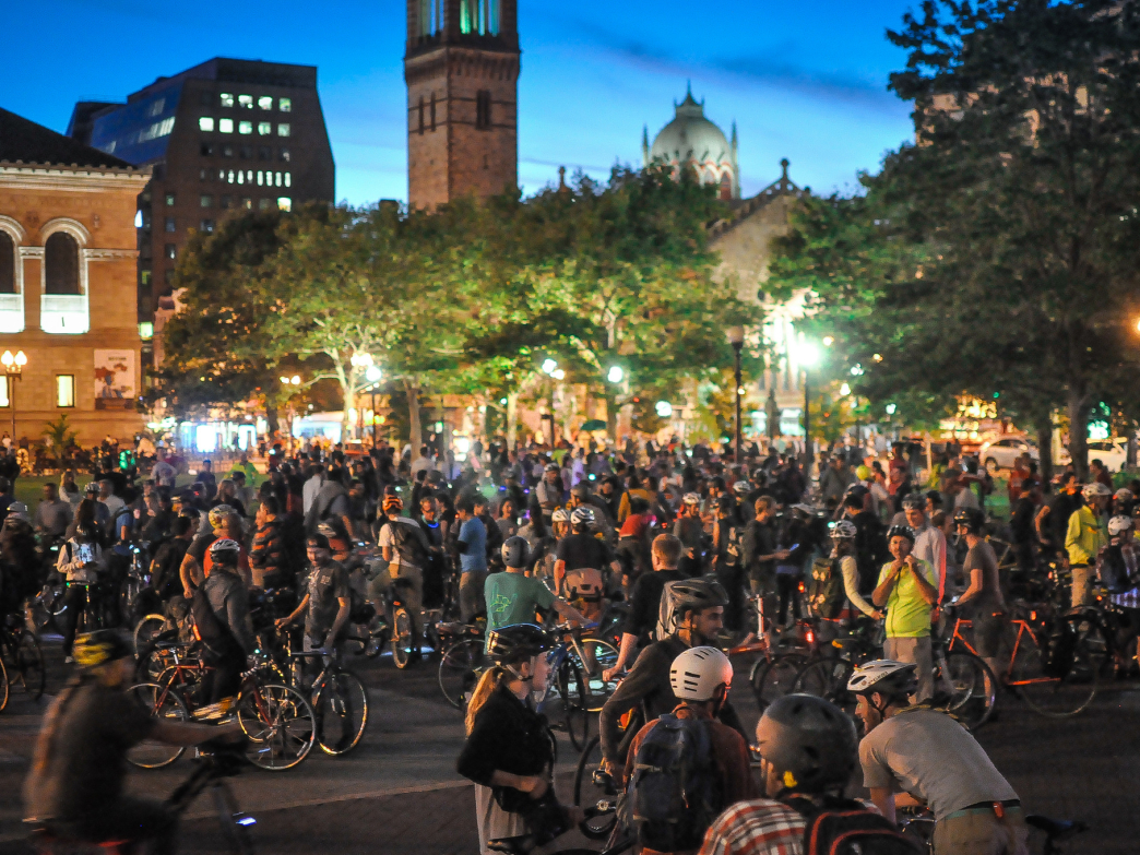 Nothing is quite like Boston Bike Party, the monthly bike ride and theme party hybrid.
