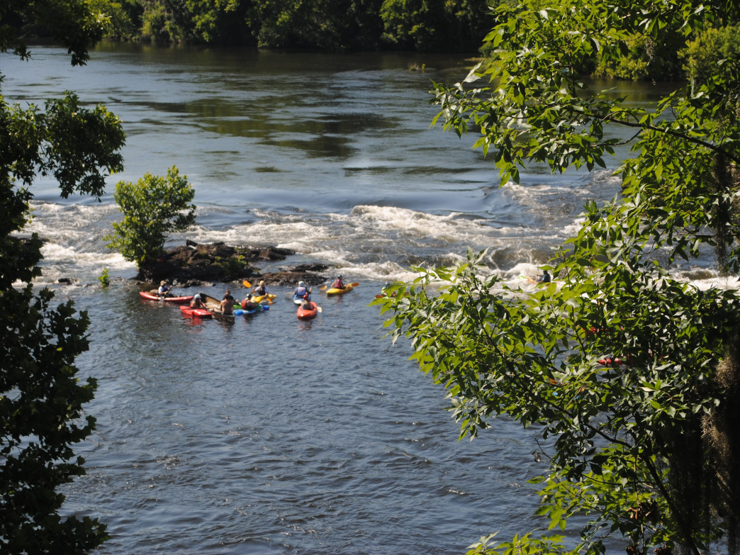 The Coosa River is a great place to learn whitewater kayaking.
