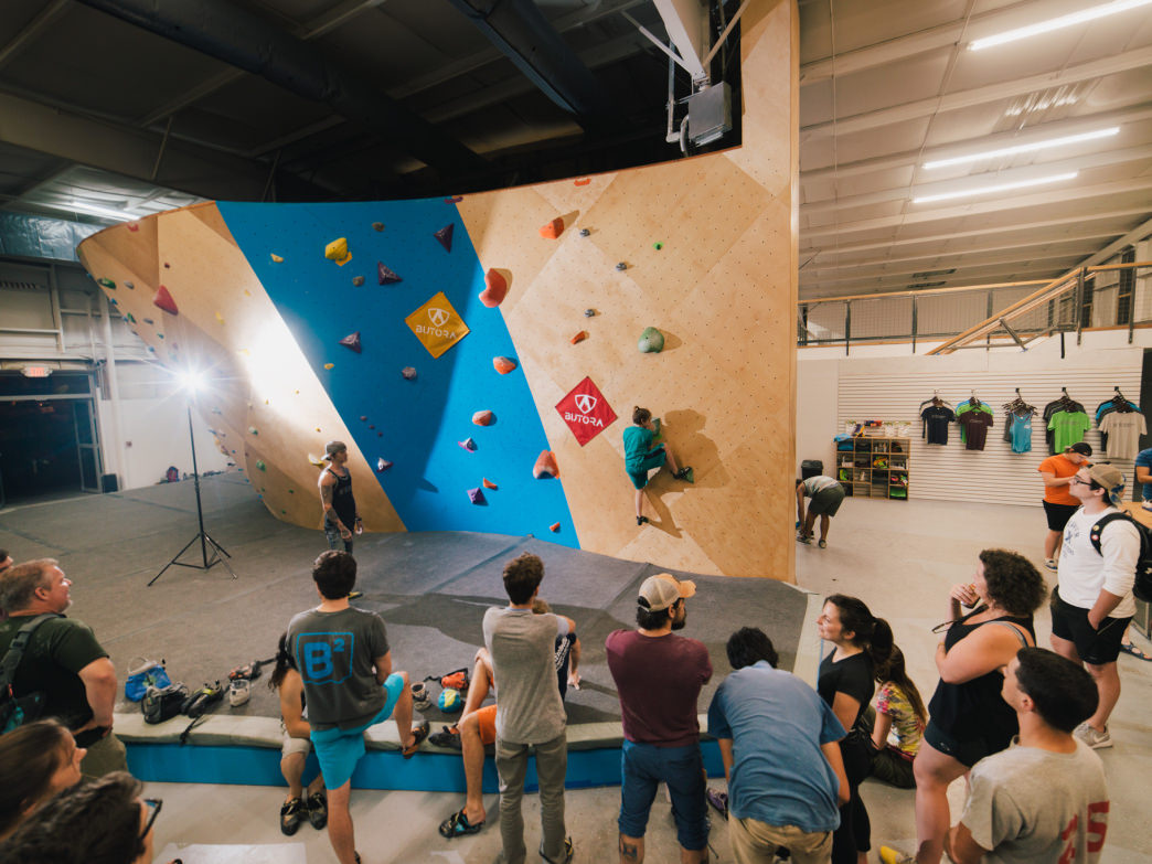 Birmingham Boulders has more than 12,000 square feet of climbing.
