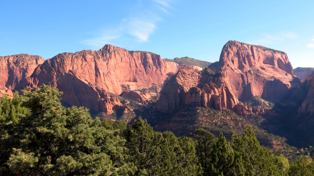 A view of Kolob Canyon in Zion National Park, Utah.