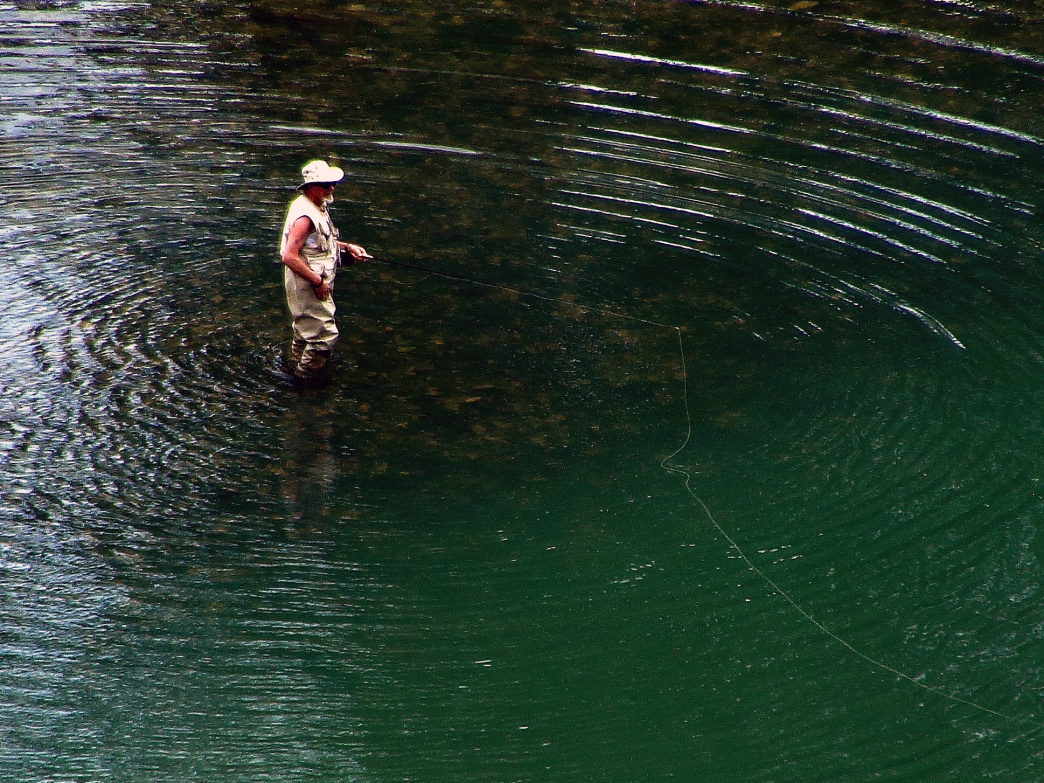The White River in north Arkansas is treasured water for trout fishermen.